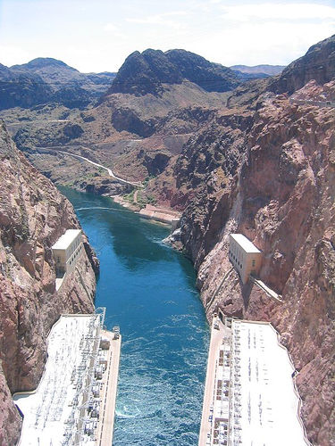 on top of hoover dam
