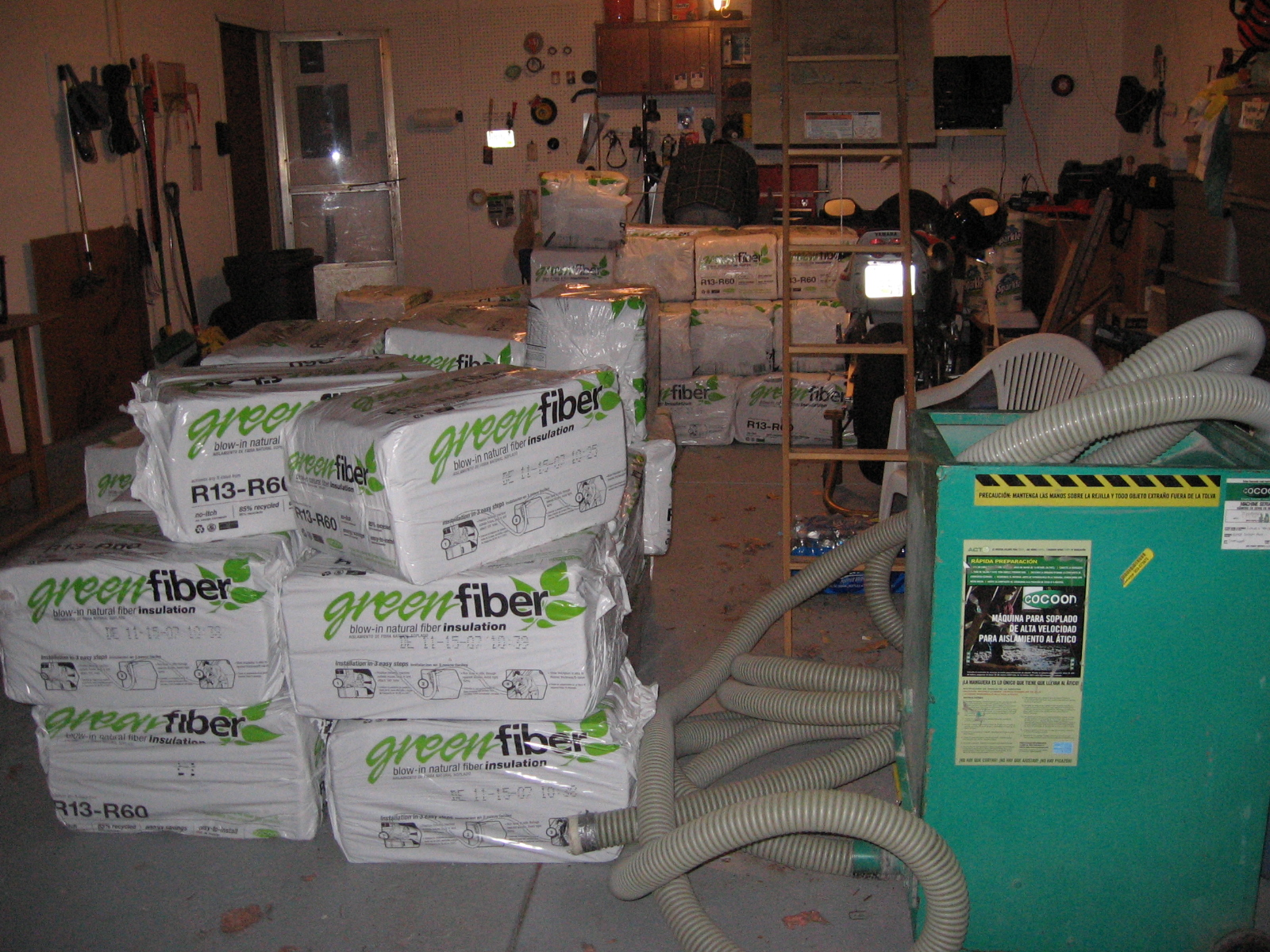Lots of insulation
